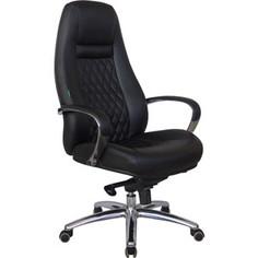 Кресло Riva Chair RCH F185 натуральная кожа черный (А8)