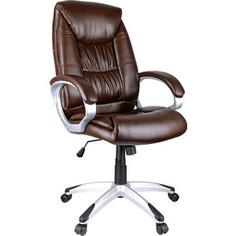 Кресло руководителя Helmi HL-E06 Balance экокожа коричневая механизм качания