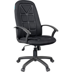 Кресло руководителя Helmi HL-E89 Blocks LT ткань TW черная