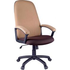 Кресло руководителя Helmi HL-E79 Elegant ткань TW коричневая/бежевая