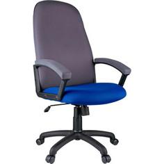 Кресло руководителя Helmi HL-E79 Elegant ткань TW синяя/серая
