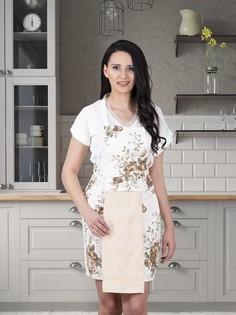 Фартук кухонный с салфеткой из велюра 30x50 см Karna