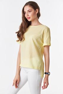 Желтая блуза футболка с коротким рукавом на лето Victoria Filippova