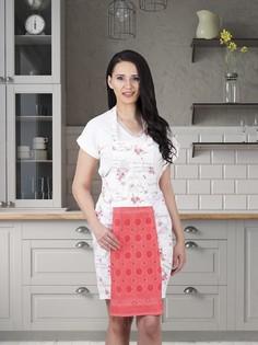 Фартук кухонный с салфеткой из велюра30x50 см Karna