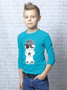 Лонгслив (футболка с длинным рукавом) для мальчика из кулирки с лайкрой Nota Bene
