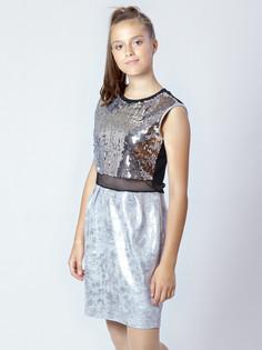 Платье из трикотажа с пайетками и футера с напылением Nota Bene