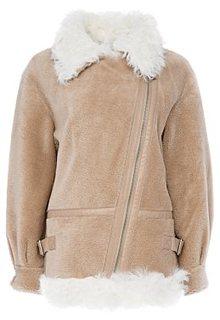 Укороченная шуба из овечьей шерсти Virtuale Fur Collection