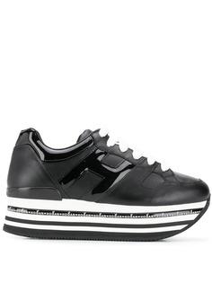 Hogan кроссовки на полосатой платформе