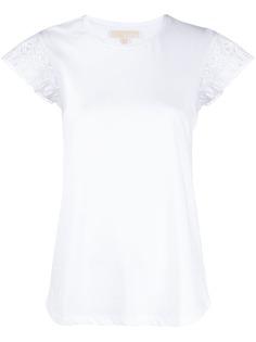 Michael Kors Collection футболка с кружевом