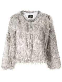 Unreal Fur фактурная шуба с эффектом металлик
