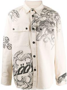 Diesel куртка-рубашка с длинными рукавами и принтом