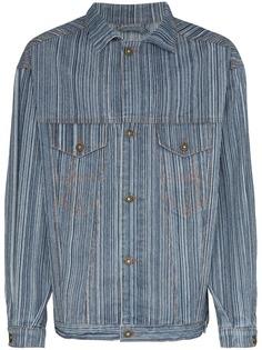 Ahluwalia джинсовая куртка в полоску