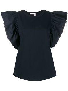 See By Chloé блузка с рукавами-оборками