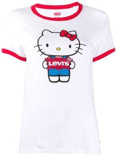 Levis футболка с принтом Hello Kitty