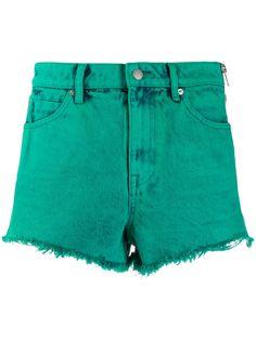 Alexander Wang джинсовые шорты с бахромой