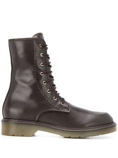 Max Mara ботинки в стиле милитари на шнуровке