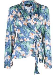 Patbo блузка с запахом и цветочным принтом