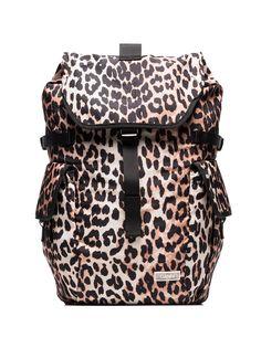 GANNI рюкзак с леопардовым принтом