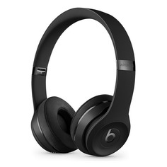 Наушники с микрофоном BEATS Solo3, Bluetooth, накладные, черный [mx432ee/a]