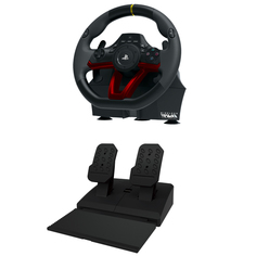 Аксессуар для игровой консоли Hori Руль Wireless Racing Wheel Apex (PS4-142E)