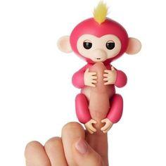 Интерактивная игрушка Fingerlings Обезьянка Белла розовая 12 см