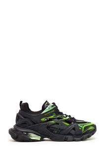 Зелено-черные кроссовки Track.2 Balenciaga