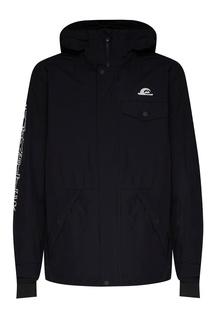 Черная с белым сноубордическая куртка In The Hood Quiksilver