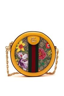 Круглая сумка Ophidia GG Flora Gucci
