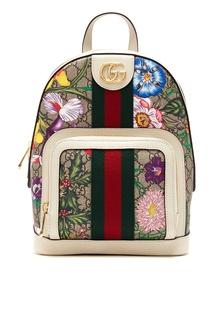 Рюкзак Ophidia с принтом Flora GG Gucci