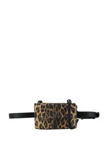 Поясная сумка леопардовой расцветки Liu Jo