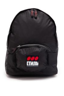 Нейлоновый рюкзак с надписями «Стиль» Heron Preston