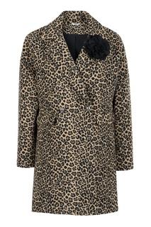 Двубортное пальто с принтом Liu Jo