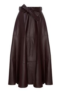 Плиссированная кожаная юбка с поясом Resistance Zimmermann