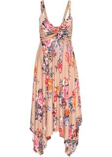 Длинные платья Платье миди с асимметричной юбкой Bonprix