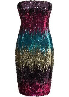 Короткие платья Платье бандо с пайетками Bonprix
