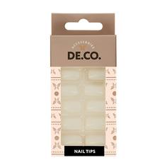 Набор накладных ногтей DE.CO. ESSENTIAL white 24 шт+ клеевые стикеры 24 шт Deco