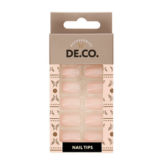 Набор накладных ногтей DE.CO. ESSENTIAL nude 24 шт+ клеевые стикеры 24 шт Deco