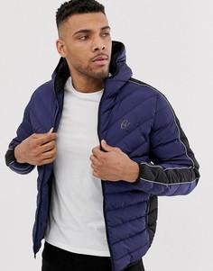 Дутая куртка с капюшоном Gym King-Темно-синий