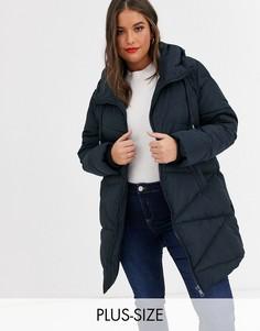 Длинная дутая куртка Koko-Темно-синий