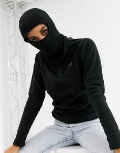 Черный капюшон из мериносовой шерсти Helly Hansen