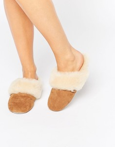 Слиперы на каблуке Just SheepSkin-Коричневый