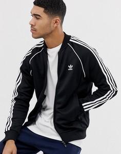 Черная спортивная куртка adidas Originals superstar CW1256-Черный