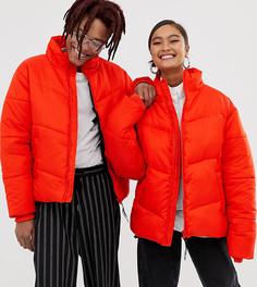 Красная дутая куртка COLLUSION Unisex-Красный
