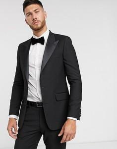 Черный облегающий пиджак-смокинг ASOS DESIGN
