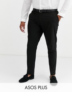 Черные облегающие брюки ASOS DESIGN Plus-Черный