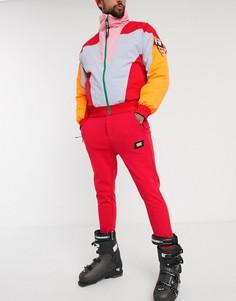 Красные облегающие горнолыжные брюки ASOS 4505-Красный