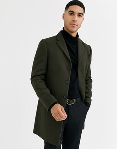 Пальто из смесовой шерстяной ткани высокого качества Rudie-Зеленый