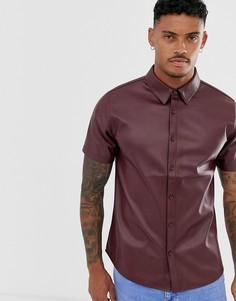 Рубашка из искусственной кожи с короткими рукавами Another Influence-Красный
