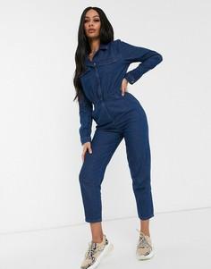 Синий легкий джинсовый комбинезон ASOS DESIGN