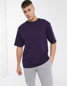 Свободная фиолетовая футболка River Island-Фиолетовый